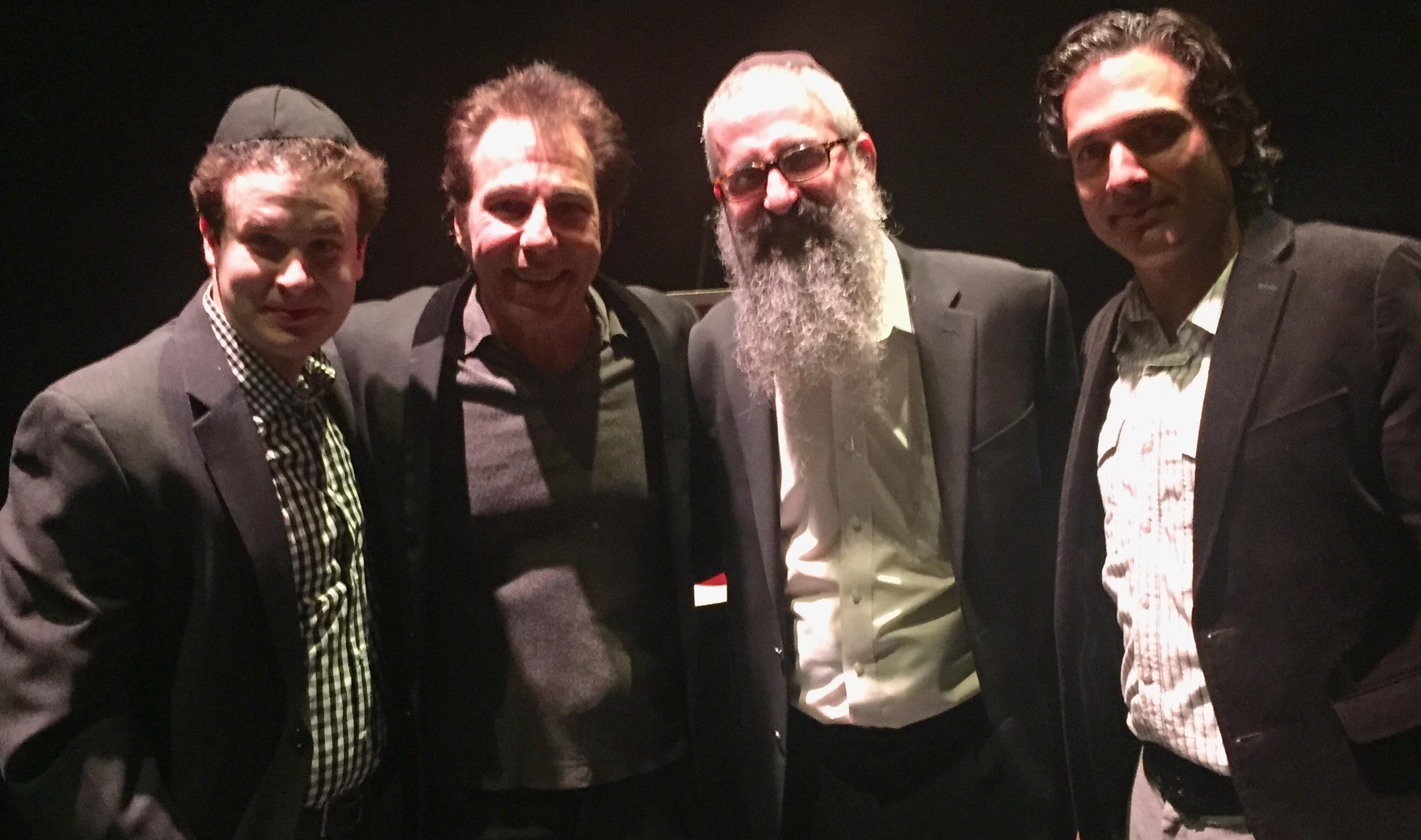 (L-R) Mike Fine, Steve Marshall, Rabbi Zalman Gerber, Kenny Gluck